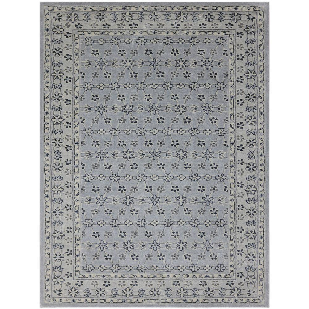 Callista Water Blue 2 ft. x 3 ft. Rectangle Area Rug