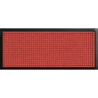 Aqua Shield Boot Tray Squares Red 15 in. x 36 in. Door Mat