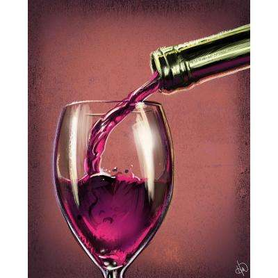 "20 in. x 24 in. ""Pouring Mulberry Wine"" Planked Wood Wall Art Print"
