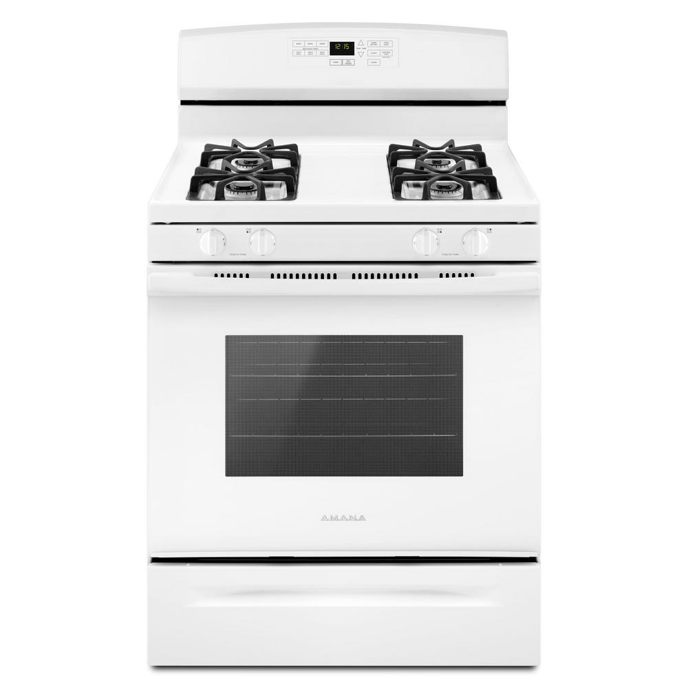 amana 30 in 5 0 cu ft gas range in white agr6603sfw the home depot rh homedepot com amana self clean oven instruction manual amana self clean gas oven manual