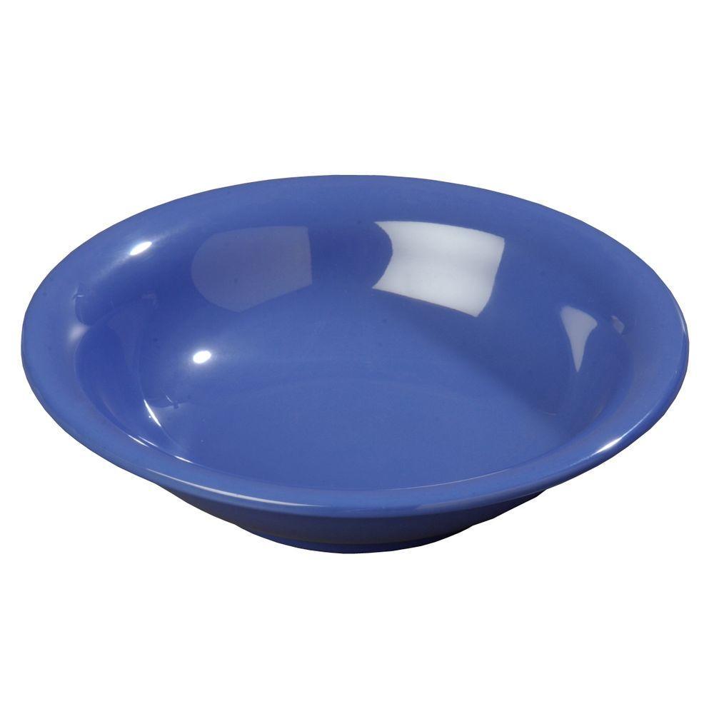 14.7 oz., 7.50 in. Diameter Melamine Rimmed Bowl in Ocean Blue