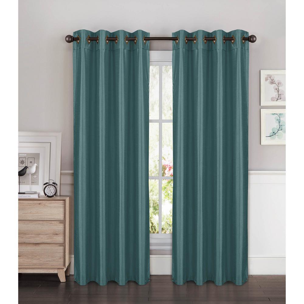 Window Elements Semi Opaque Kim Faux Silk Extra Wide 84 in