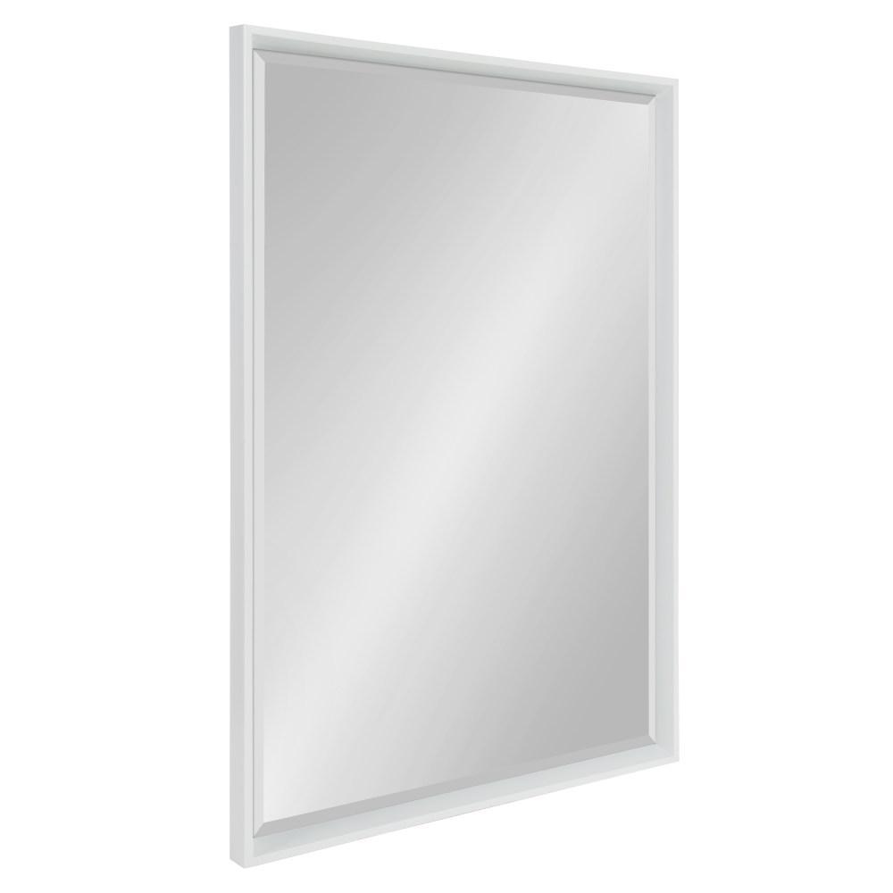 Calder 23.5 in. W x 35.5 in. H Framed Rectangular Beveled Edge Bathroom Vanity Mirror in White