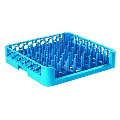 19.75x19.75 in. Open End Tall Peg Dishwashing Rack in Blue (Case of 6)