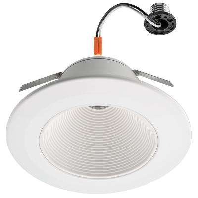 6 in. White Ultra Low Glare Integrated LED Mini Step Downlight Trim