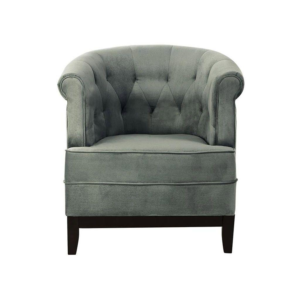 Home Decorators Collection Emma Sea Green Velvet Tufted Arm Chair