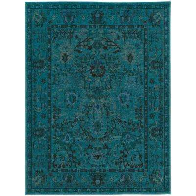 Overdye Teal 9 ft. 6 in. x 12 ft. 2 in. Area Rug