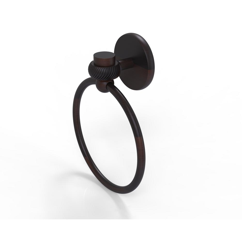 Allied Brass Satellite Orbit One Collection Towel Ring with Twist Accent in Venetian Bronze