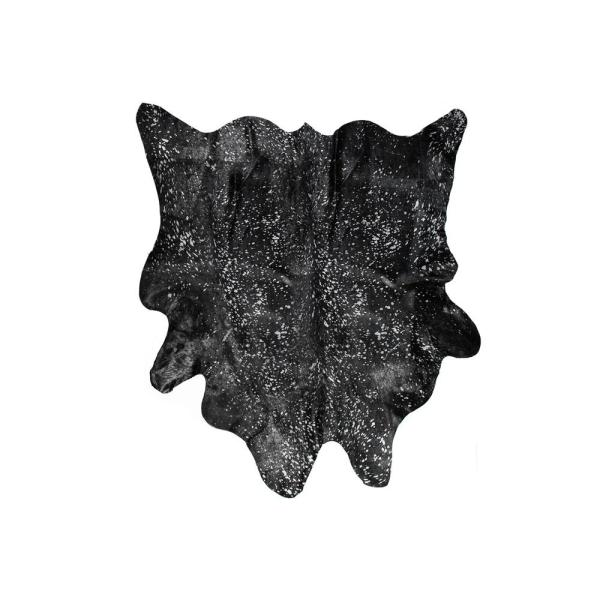 Geneva Black 6 ft. x 7 ft. Cowhide Rug