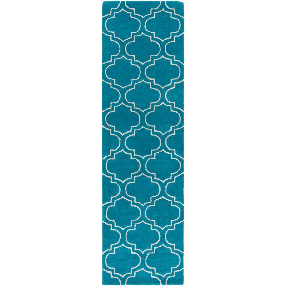 Signature Emily Teal 2 ft. 3 in. x 14 ft. Indoor