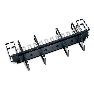 Cable Management Solutions Combo Front/Rear Manager, Black