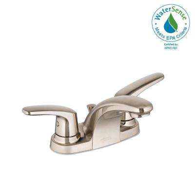 Colony Pro 4 in. Centerset 2-Handle Low-Arc Bathroom Faucet in Brushed Nickel