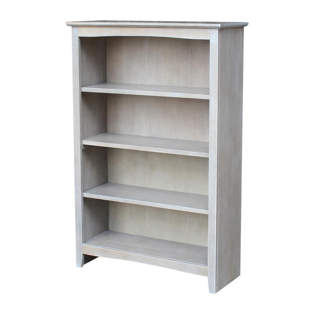 International Concepts Brooklyn 48 In. Weathered Gray Bookcase