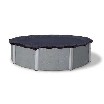 8-Year 28 ft. Round Navy Blue Above Ground Winter Pool Cover