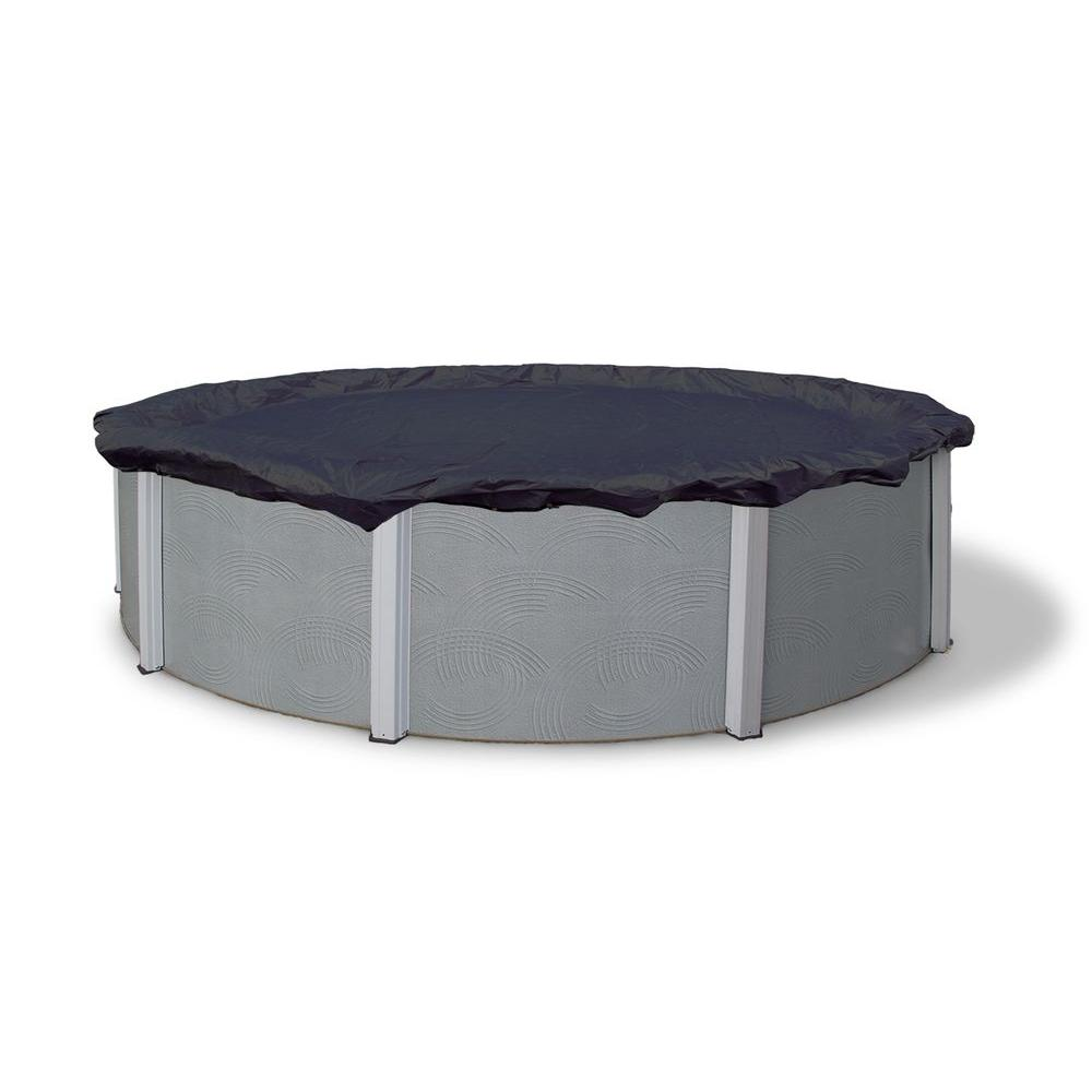 Blue Wave 8-Year 18 ft. Round Navy Blue Above Ground Winter Pool Cover
