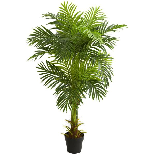 Indoor 5 ft. Double Stalk Hawaii Palm Artificial Tree