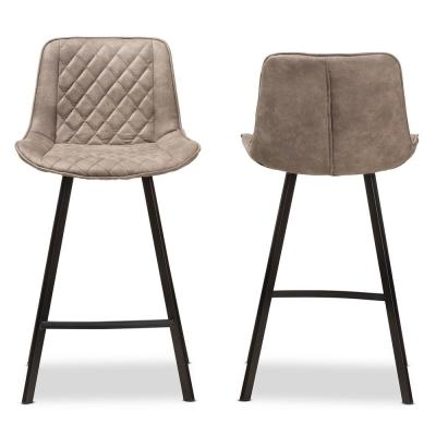 Pickford 26 in. Light Brown Bar Stool (Set of 2)