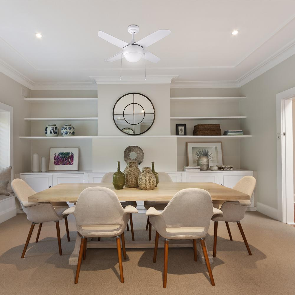 Home Decorators Collection Harper 36-INCH CEILING FAN, MATTE WHITE