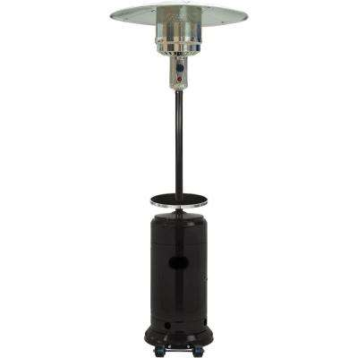 7 ft. 41,000 BTU Steel Umbrella Propane Patio Heater in Black