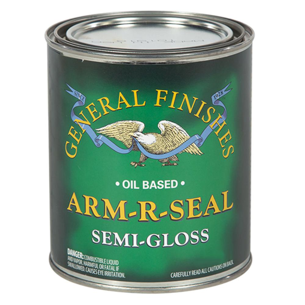 GeneralFinishes General Finishes 1 qt. Semi-Gloss Arm-R-Seal Urethane Interior Topcoat