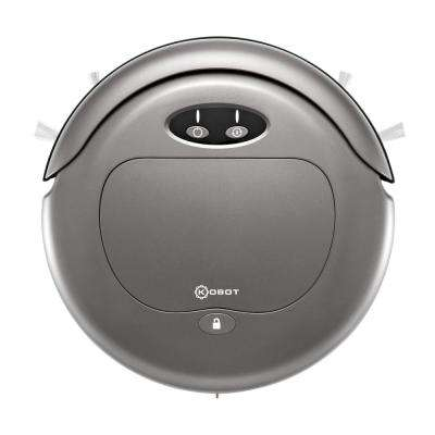 Slim Series Robot Vacuum in Gun Metal with Scheduling