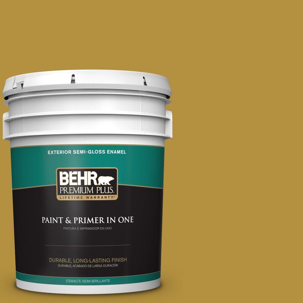 5-gal. #370D-7 Venetian Gold Semi-Gloss Enamel Exterior Paint