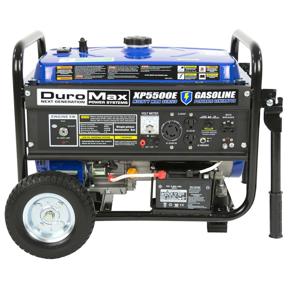Duromax 4,500-Watt 7.5 HP Portable Electric Start Gasolin...