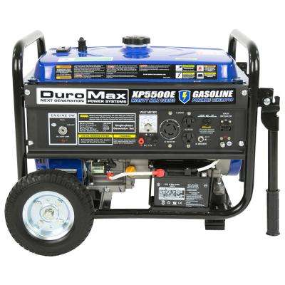 4,500-Watt 7.5 HP Portable Electric Start Gasoline Generator with Wheel Kit