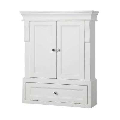 Naples 26-1/2 in. W x 32-3/4 in  sc 1 st  The Home Depot : white bathroom storage cabinets - Cheerinfomania.Com
