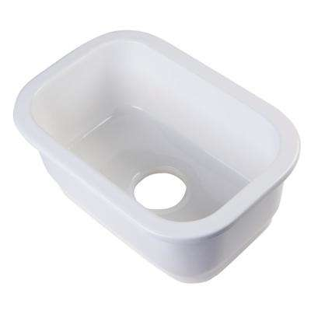 Undermount Fireclay 12 in. Single Bowl Kitchen Sink in White