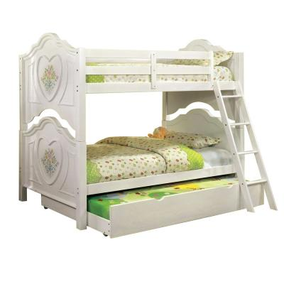 Isabella III Twin Bunk Bed in White
