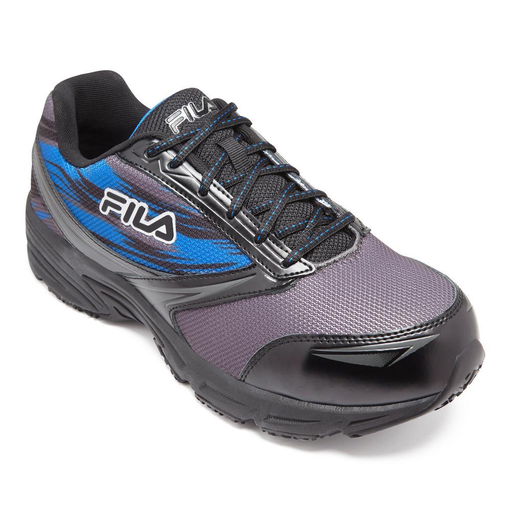 Fila Men's Memory Meiera 2 Slip Resistant Athletic Shoes Composite Toe Black Size 11(M)