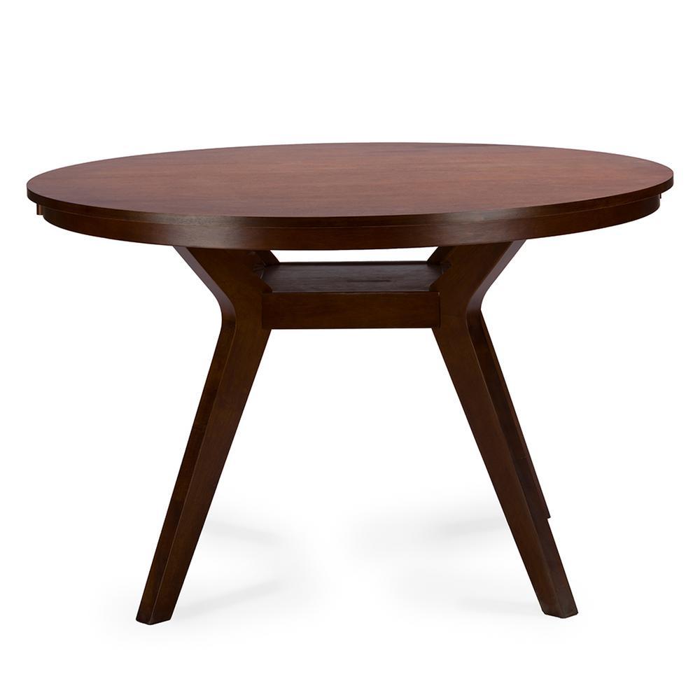 +3. Baxton Studio Flamingo Medium Brown Dining Table