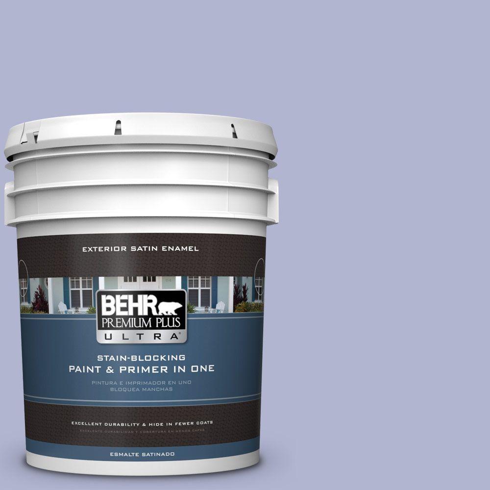 BEHR Premium Plus Ultra 5-gal. #620C-3 Purple Surf Satin Enamel Exterior Paint