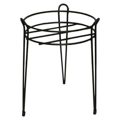 15 in. Black Basic Metal Plant Stand