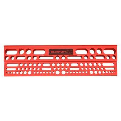 24 in. x 6 in. x 2.75 in. Red Tool Storage Bar Garage Wall Shelf