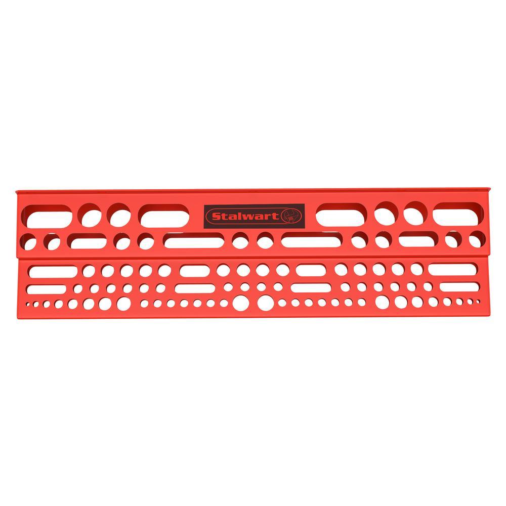 24 in. x 6 in. x 2.75 in. Red Tool Storage Bar Garage Wall Shelf