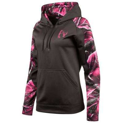 Huntworth Women's Small Charcoal Gray / Passion Hooded Pullover