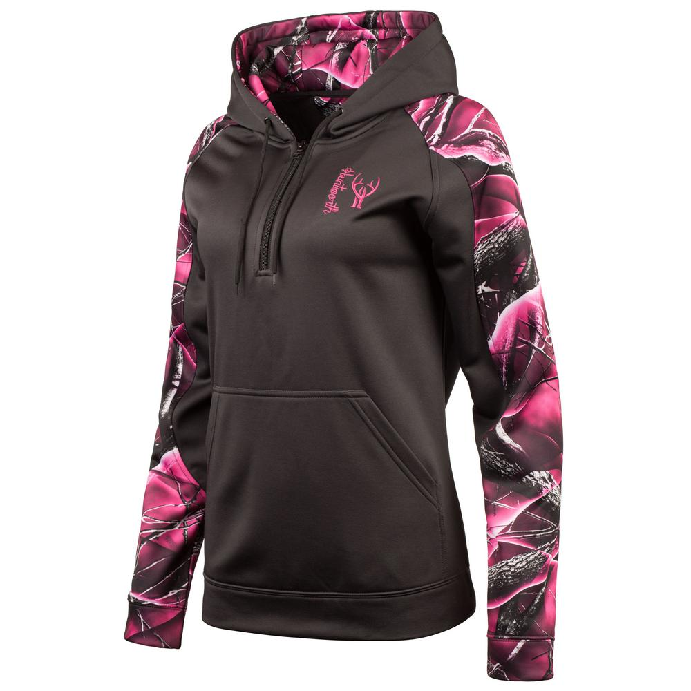 aacdef7a HUNTWORTH HUNTWORTH Women's Small Charcoal Gray / Passion Hooded Pullover
