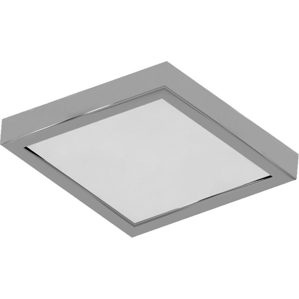 Volume lighting 10 in 1 light brushed nickel led indoor mini square ceiling flush mount wall mount sconce light with white square lens