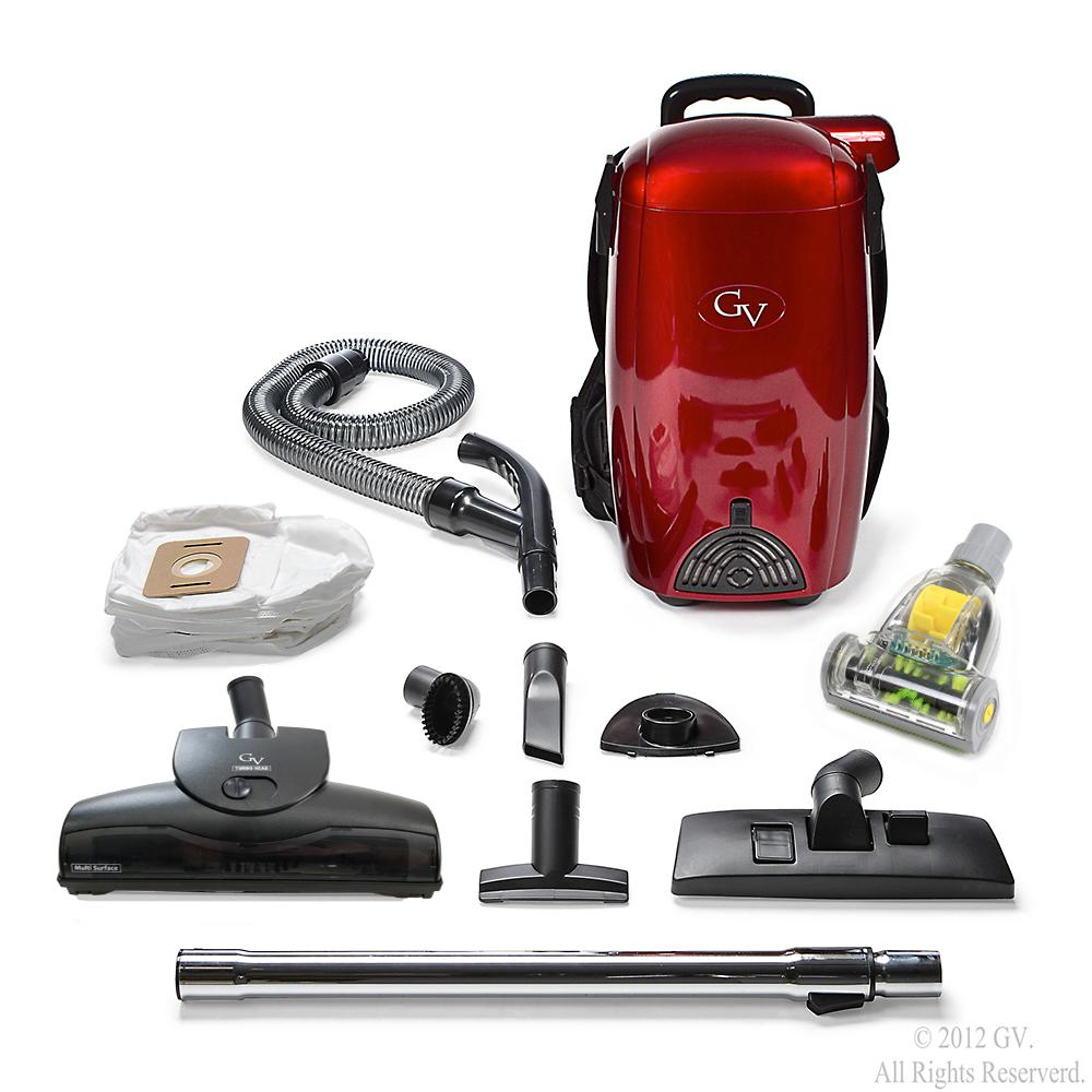 GV 8 Qt. BackPack Vacuum Cleaner, Reds/Pinks