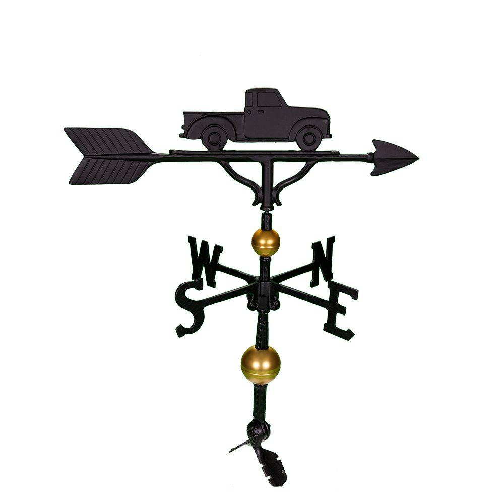32 in. Deluxe Black Classic Truck Weathervane