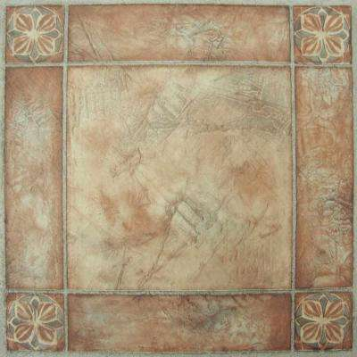 Nexus Spanish Rose 12 in. x 12 in. Peel and Stick Vinyl Tile (20 sq. ft./case)