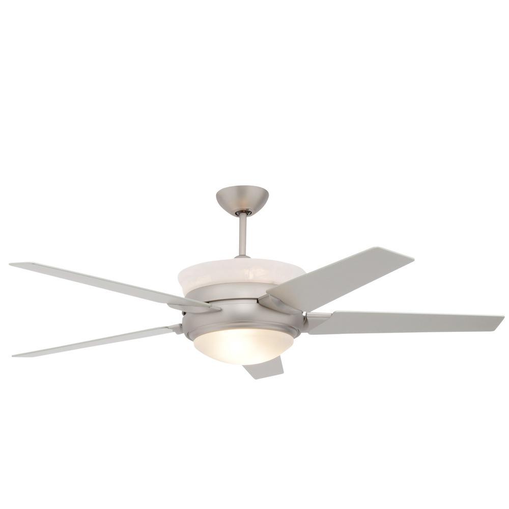 Satin Steel Up Light Ceiling Fan