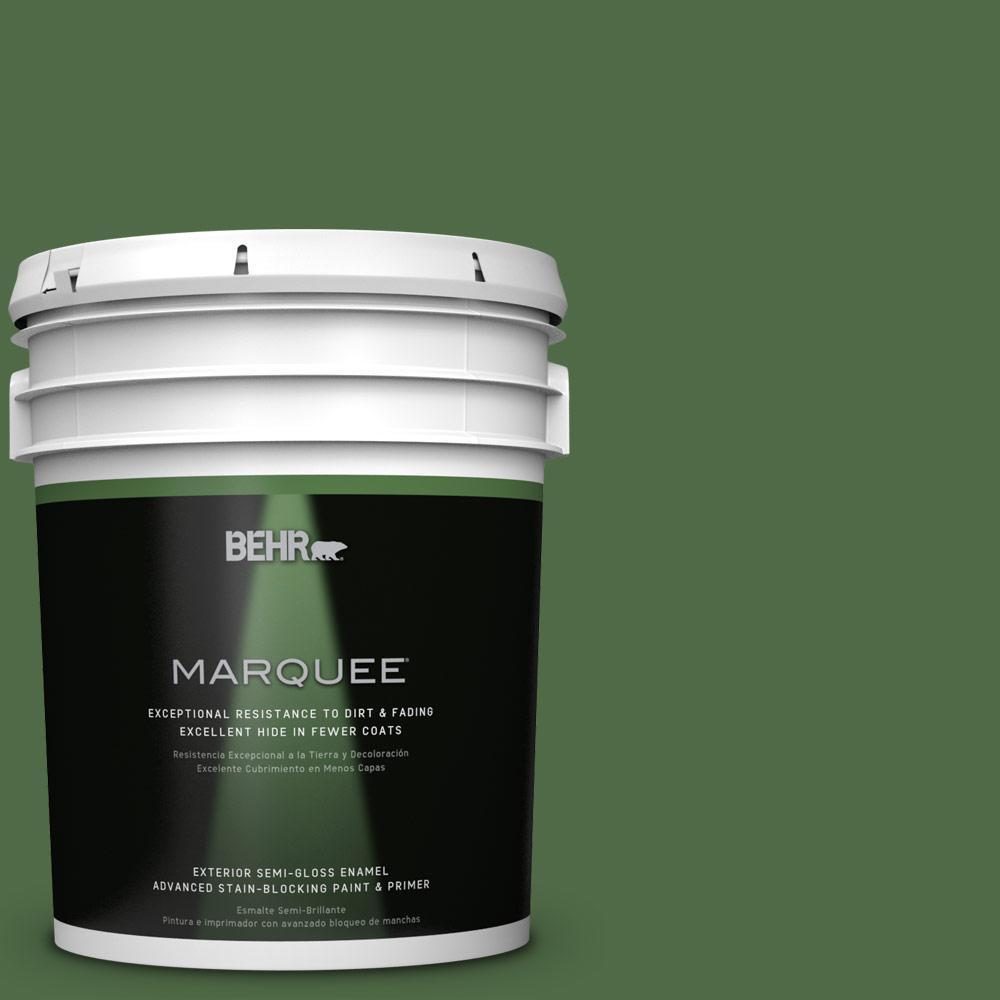 5-gal. #M400-7 Garden Cucumber Semi-Gloss Enamel Exterior Paint