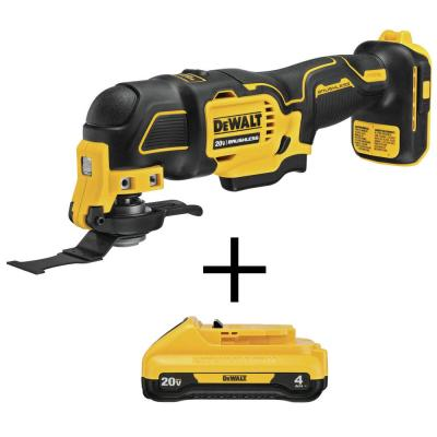 ATOMIC 20-Volt MAX Li-Ion Brushless Cordless Oscillating Tool (Tool-Only) with Bonus 20-Volt MAX Li-Ion 4.0 Ah Battery