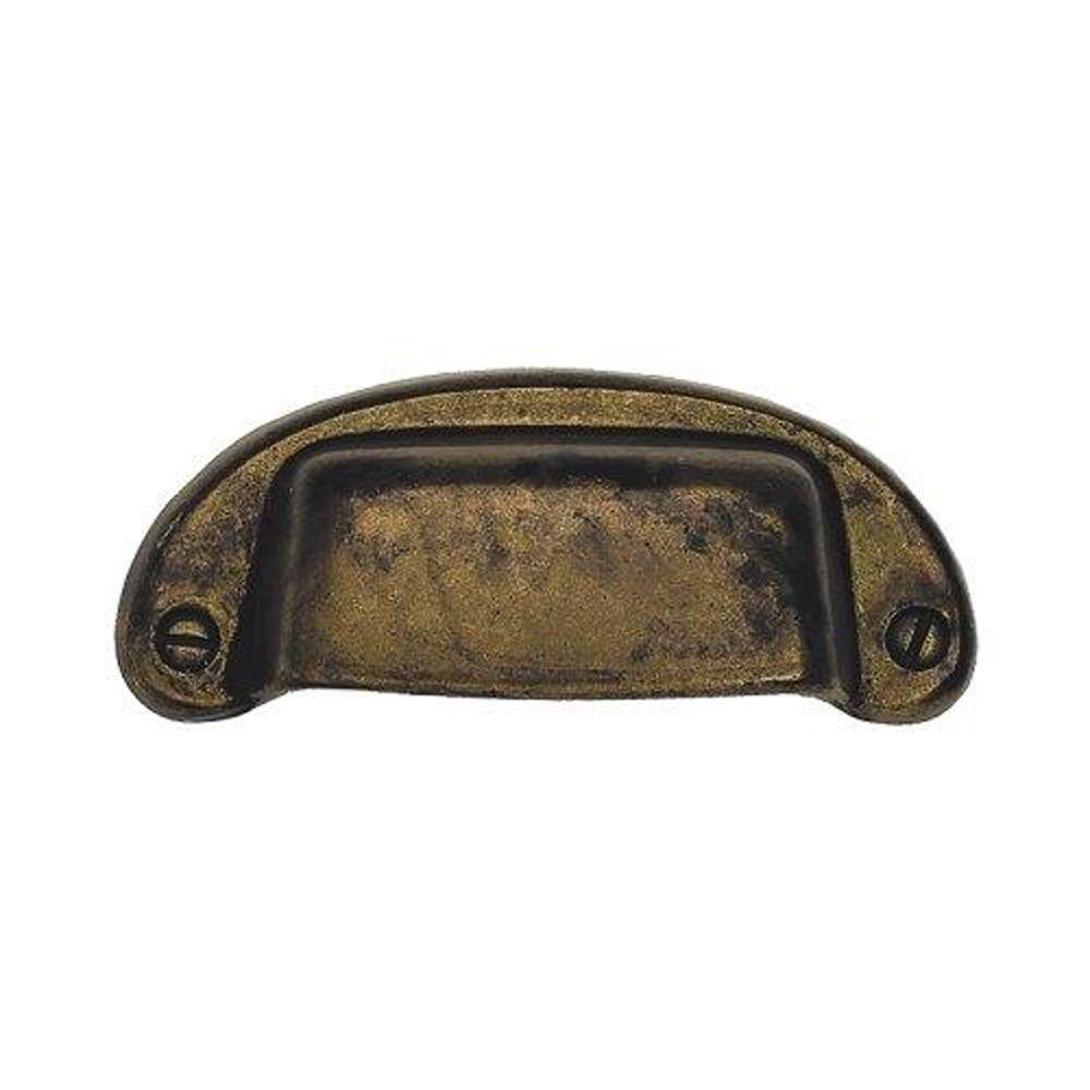 3.07 in. Antique Brass Distressed Bin Pull