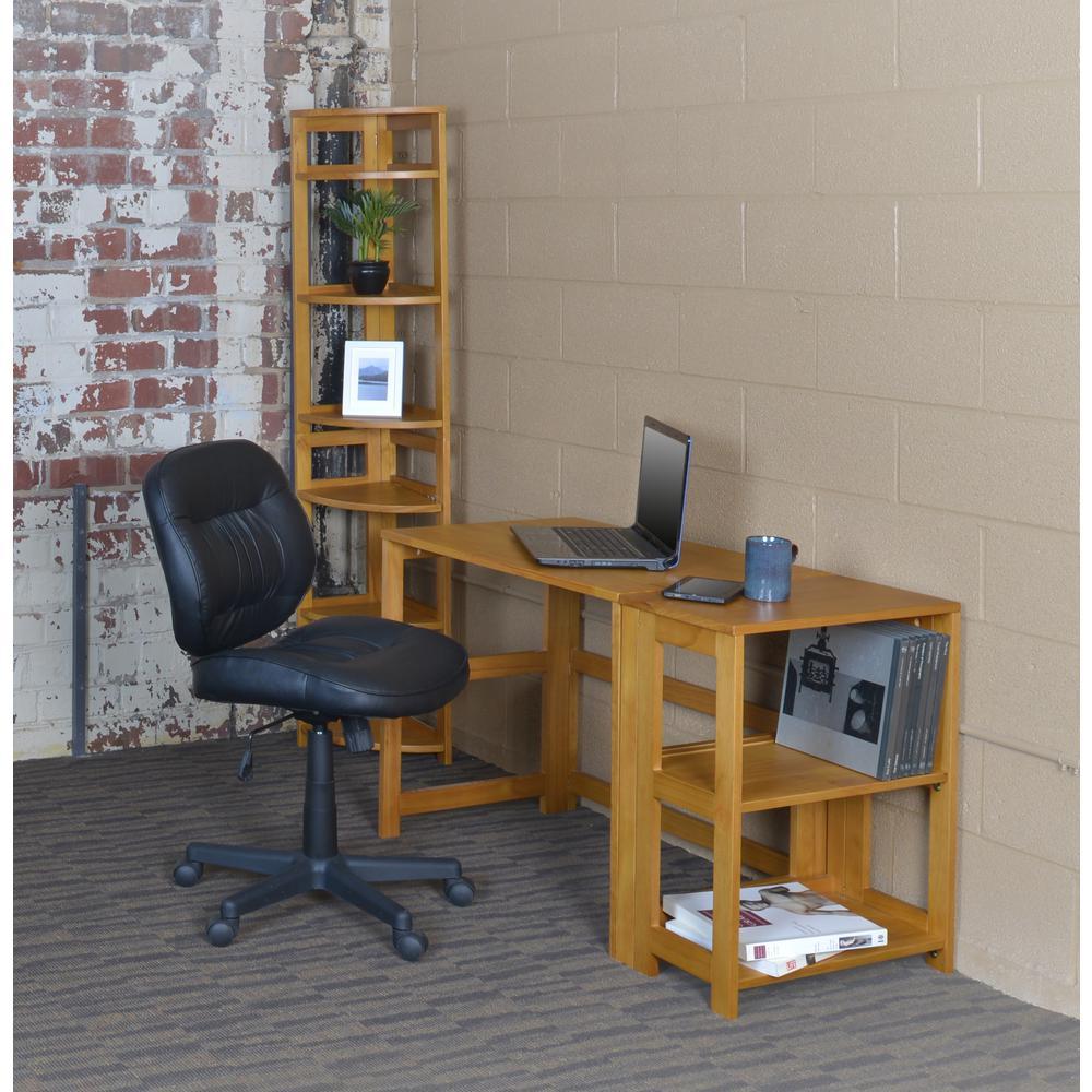 Flip Flop Medium Oak Folding Desk with Easy Assembly