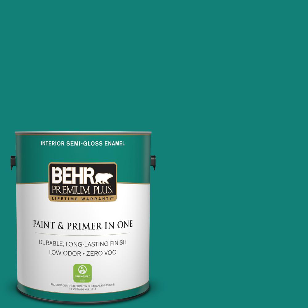 Home Decorators Collection 1-gal. #HDC-WR14-9 Green Garlands Semi-Gloss Enamel