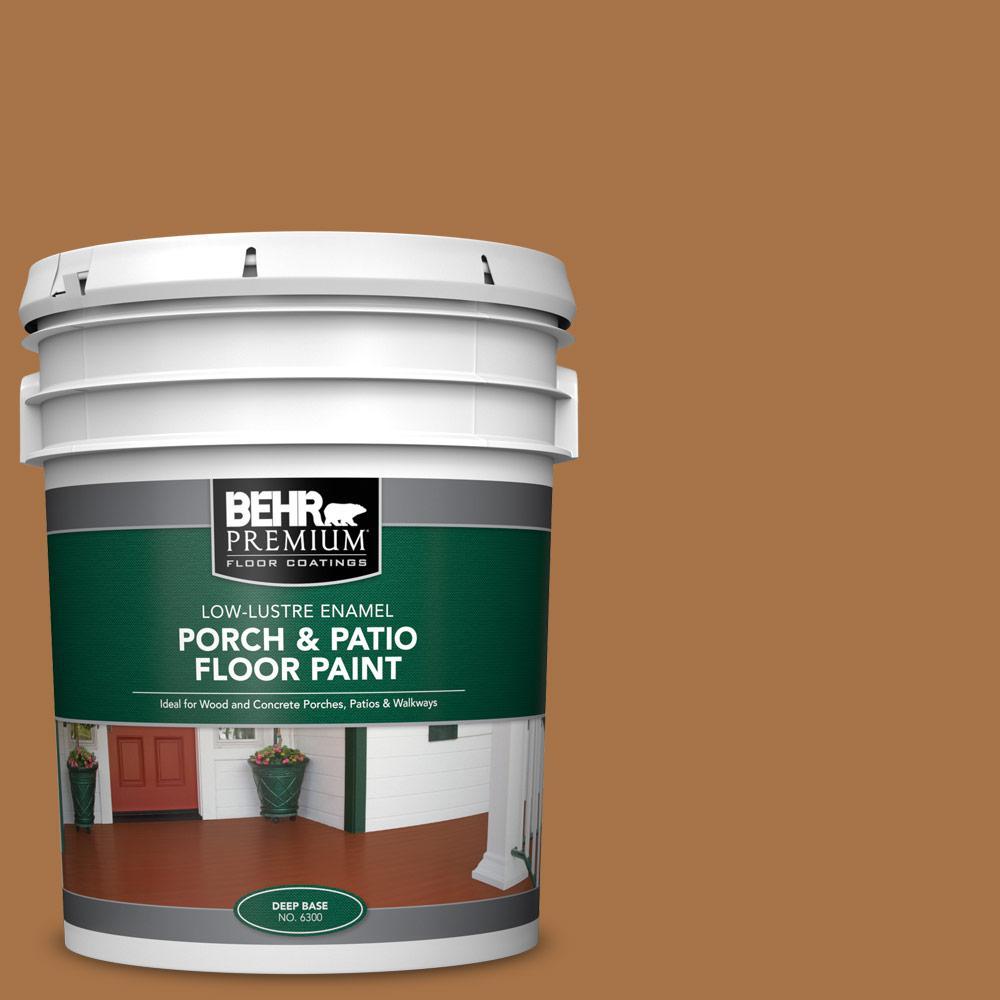 5 gal. #SC-134 Curry Low-Lustre Enamel Interior/Exterior Porch and Patio Floor Paint